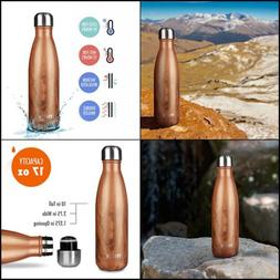 NEW MIRA Double Walled Stainless Steel Cola Shape Water Bott