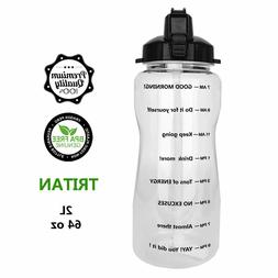 NEW QuiFit Portable Drinking Straw Daily Water Bottle Sport