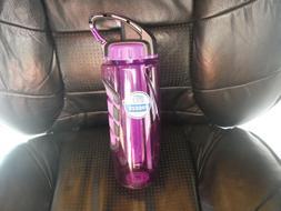 NEW PURPLE 32 oz. COOL GEAR FREEZE w Straw - BPA FREE Plasti