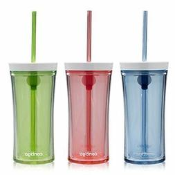 NEW Contigo Shake & Go Water Bottles, 16oz, Monaco/Citron/Wa