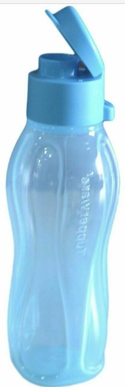 NEW TUPPERWARE SMALL BLUE ECO WATER BOTTLE 16 Oz / 500 mL FL