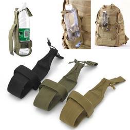 Nylon Men's Hiking Water Bottle Holder Backpack Belt Straps