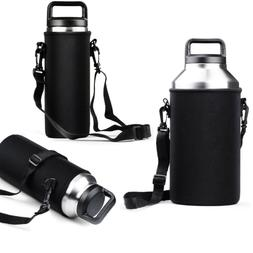 18/36/64oz Sports Water Bottle Carrier Insulated Bag Holder