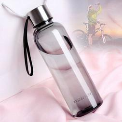 Outdoor  Clear Water Bottle Cup 550ml Leakproof Portable Tra