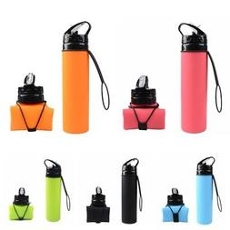 Outdoor Foldable Reusable Collapsible Silicone Water Bottle