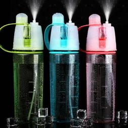 Outdoor Sports Portable Drinking Misting Mist Spray Water Bo