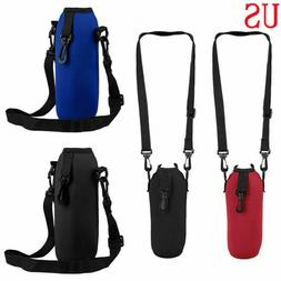 Water Bottle Carrier Insulated Cup Bag Hiking Belt Holder Ke
