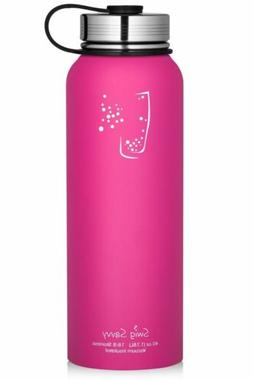 Swig Savvy 40 Oz Pink Stainless Steel Insulated Water Bottle