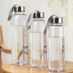 Plastic Leakproof Water Bottle Portable Transparent Anti-fal