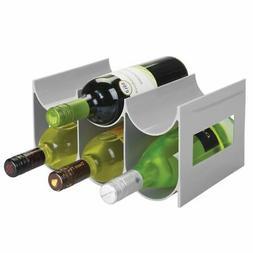mDesign Plastic Water Bottle & Wine Rack Storage Holder, 6 B