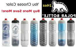 Polar 42oz Big Insulated Water Bottle One Way Nozzle Bike Bl