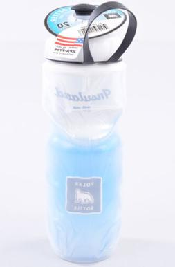 Polar Insulated 20 oz Water Bottle Blue Fade BPA and Phthala