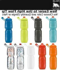 Polar Insulated Water Bottle ZipStream Bike 24oz Zip Stream