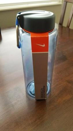 Nike Polycarbonate Water Bottle with Blue Carabiner Clip 32