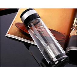 Portable 600ML Multi-functional Water Tea Glass Bottle with