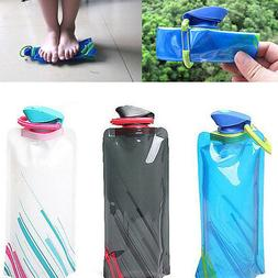 Portable 700ml Water Bottle Bag Cup Sport For Hiking Reusabl