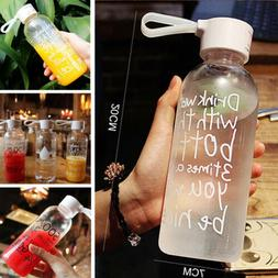Portable Plastic Clear Sport Fruit Juice Water Cup 600ML Tra