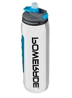 Premium Squeeze Water Bottle, White, 32 oz for Sports & Fitn