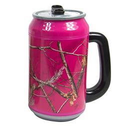 Cool Gear Realtree Can with Handle, 33 oz, Pink Camo