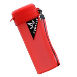 Red Sports Water with Handle Drinking Bottle for Running Cam