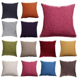 Retro Colorful Throw Waist Pillow Cases Sofa Decor Outdoor S