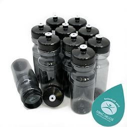 Rolling Sands 24oz Drink Bottles Charcoal 10 Pack