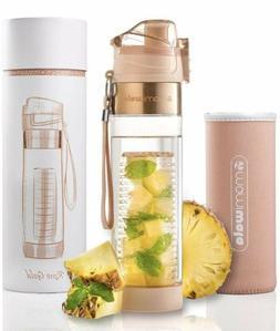 MAMI WATA Rose Gold 700ml BPA Free Fruit Infuser Water Bottl
