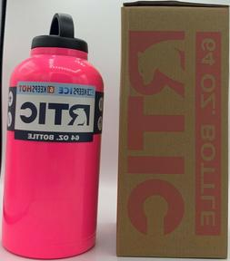 RTIC 64 oz PINK Stainless Steel Water Bottle