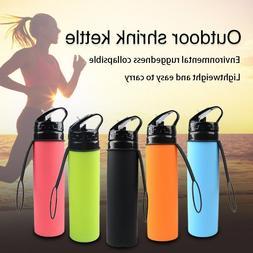 Rubber Plastic Water Bottle With Straw 610ml Leak-proof Spor