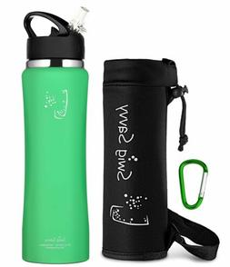 Swig Savvy's Stainless Steel Insulated Water Bottle Wide Mou