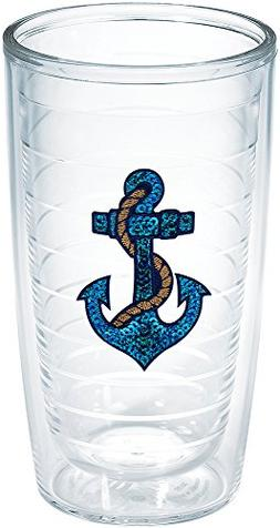 Tervis Sequins Anchor Emblem Bottle, 16-Ounce, On The Water