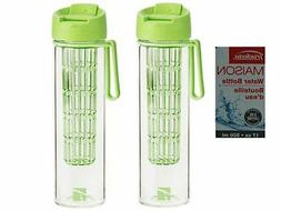 Set of 2 Trudeau Maison Water Bottle - 17 oz and BPA Free