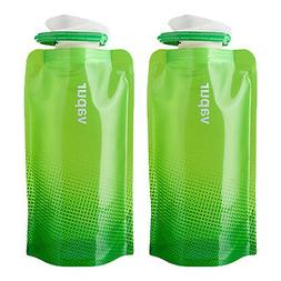 Vapur Shades .5L Collapsible Water Bottle - True Green - 2 P