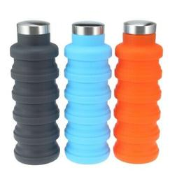 Silicone Sports Water Bottle Foldable Portable Travel Practi