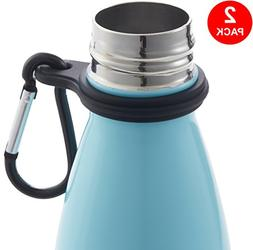 Silicone Stainless Steel Water Bottle Carrier/Holder With Ca