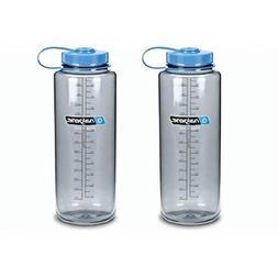 Nalgene Silo 48oz Tritan Grey W/Blue Top Wide Mouth Bottle,