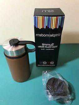 Simple Modern wide Mouth Water Bottle Java Brown 14 oz plus