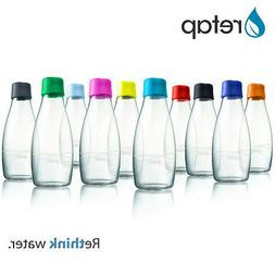 ReTap Small Reusable Glass Drinking Water Bottle 10oz - 12oz