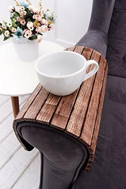 Sofa Arm Tray Table 18x12 Inches Folding Drink Holder for Ro