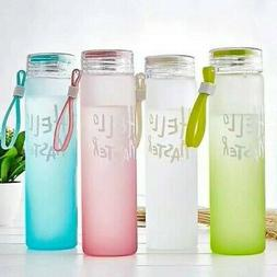 Sport Bottle Gradient Color Glass Water Bottle Outdoor Stude