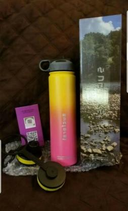 Sports Water Bottle, 2 Extra Accessories