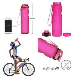 Sports Water Bottle 36Oz LARGE Premium Bottle/Resin Fitness