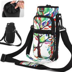Sports Water Bottle Carrier Bag 2 Pocket Bottle Holder Acces