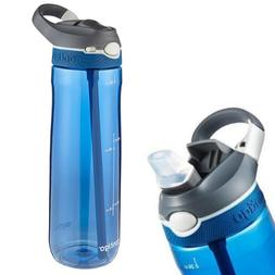 SPORTS WATER BOTTLE with Measurements Straw for Workout Trav