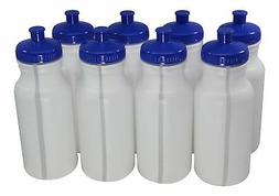 Sports Squeeze Plastic Water Bottles Push/Pull Cap 20 Ounce
