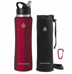875f781c25 Swig Savvy's Stainless Steel Insulated Water Bottle, Wide Mo