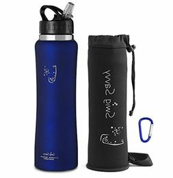 Swig Savvy Stainless Steel Insulated Water Bottle 32oz Wide