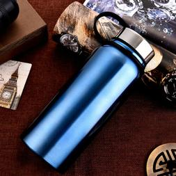 Stainless Steel Sports Water Bottle 900ml Travel Drink For G