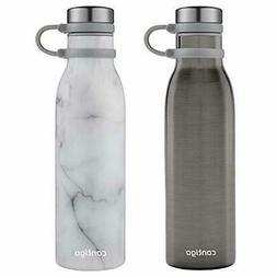 Contigo Couture Stainless Steel Water Bottle, 20 ounces, 2-P