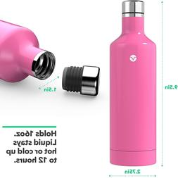 Vremi 16 oz Stainless Steel Water Bottle - Double Walled Vac